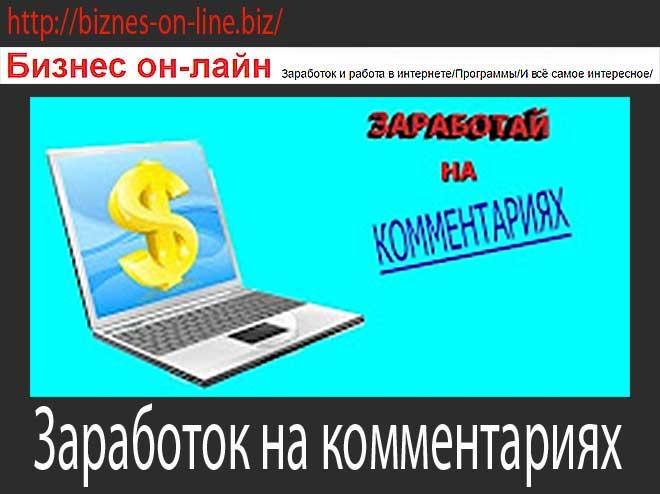 заработок в интернете комментарий